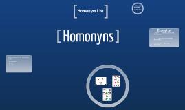 Copy of Homonyms