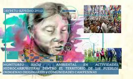 MONITOREO SOCIO - AMBIENTAL EN ACTIVIDADES HIDROCARBURíFERAS