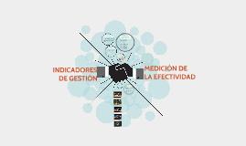 INDICADORES DE GESTIÓN Y MEDICIÓN DE LA EFECTIVIDAD