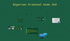 Nigerian Criminal Code 419