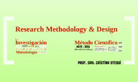 Research Methodology & Design