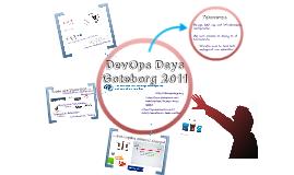 DevOps Days @ Gothenburg 2011
