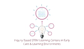Copy of Inquiry Based STEM Learning Centers in Early Care & Learning