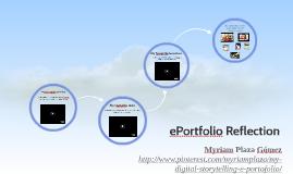 Copy of ePortfolio Reflection