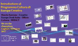 Introduzione al Programma Cultura di Europa Creativa, Cagliari 16 marzo 2017