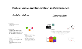 Public Value and Innovation in Governance