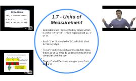 1.7 - Units of Measurement