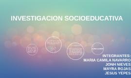 INVESTIGACION SOCIOEDUCATIVA