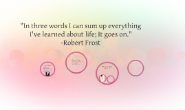 """In three words I can sum up everything I've learned about l"
