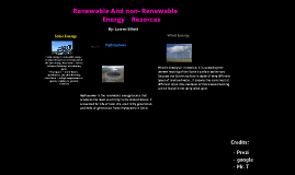 Renewable And Non-renewable Resorces