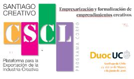 Clase 1: Empresarización y formalización de Emprendimientos Creativos