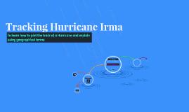 Tracking Hurricane Irma