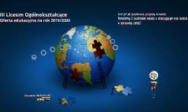Oferta edukacyjna  (wersja automatyczna pełna) Oferta na rok 2019/2020  III Liceum Ogólnokształcące w Brodnicy