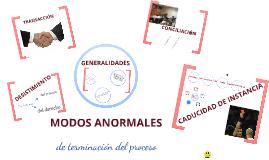 MODOS ANORMALES DE TERMINACIÓN DEL PROCESO