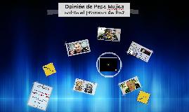 Opinión de Pepe Mujica hacia el proceso de paz