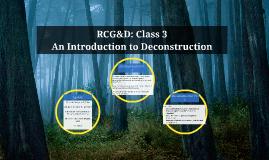 RCG&D: Class 3