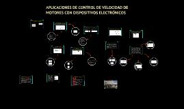 Aplicaciones de control de velocidad de motores