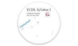 Copy of ECDL Syllabus 5 Adatbázis-kezelés