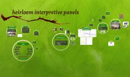 Heirloom Interpretive Panels