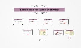 Sacrifice in Crime and Punishment