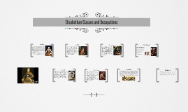 Elizabethan Classes and Occupations