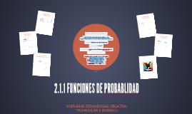 2.1.1 FUNCIONES DE PROBABLIDAD  NEGATIVA
