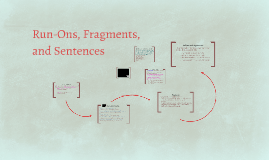 Run Ons, Fragments, and Sentences