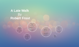 """A Late Walk"" Robert Frost"