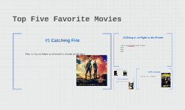 Top Five Favorite Movies