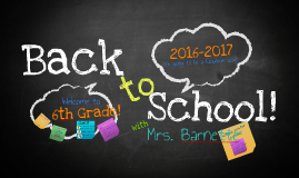 Janet Barnette Welcome Back to School