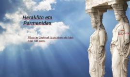 Heraklito eta Parmenides