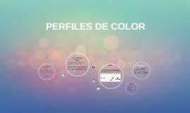 PERFILES DE COLOR