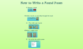 Copy of Found Poem Instructions