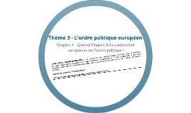 Quel est l'impact de la construction européenne sur l'action publique ?