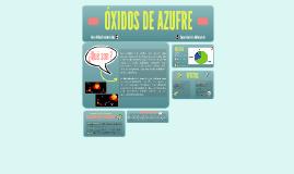 Óxidos de Azufre