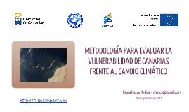 TALLER DE EVALUACIÓN DE LA VULNERABILIDAD DE CANARIAS FRENTE AL CAMBIO CLIMÁTICO