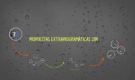 Copy of Propuestas extraprogramáticas 2014