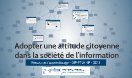 Adopter une attitude citoyenne dans la société de l'information