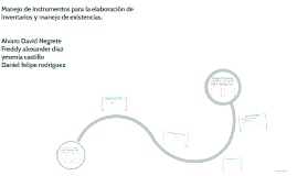 Copy of Manejo de instrumentos para la elaboracion de inventarios y manejo de existencias