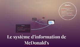 Copy of Le système d'information de McDonald's