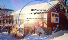 Welcome to Langlauf 2018