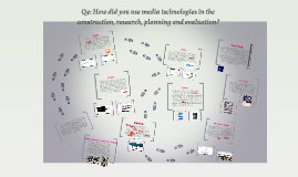 Q4: How did you use media technologies in the construction,