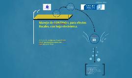 Manejo de CONTPAQ i, para efectos fiscales, con hoja electró