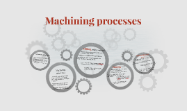 Machining processes