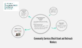 Community Service Block Outreach Workers
