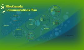 MitoCanada Communications Plan