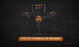 POLITICA PUBLICA DE TRABAJO