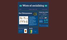Ways of socializing
