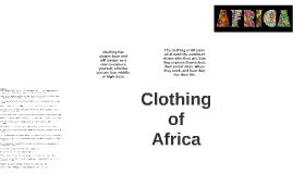 Clothing of Africa