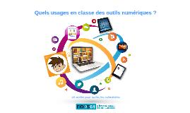 Quels usages en classe des outils numériques ?
